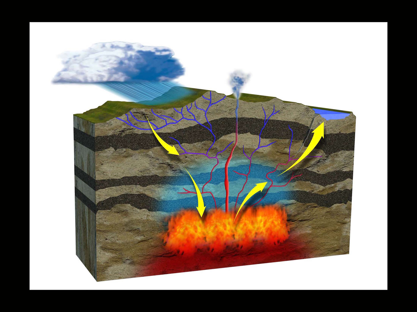 illustration-Technical_Igneous formation of a rock-Matt Zang