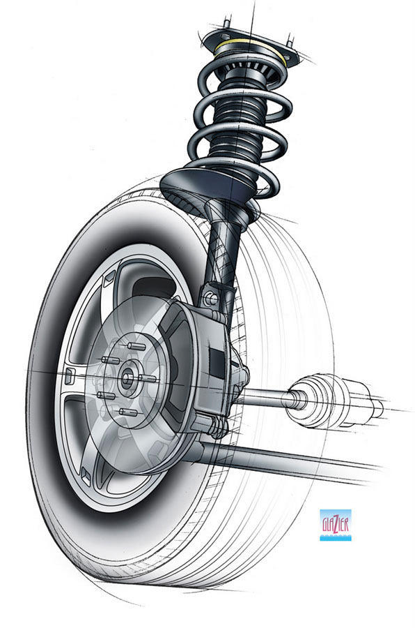 illustration-Technical and How ToCar Wheel-Garth Glazier