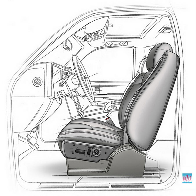 illustration-Technical and How ToFolding Car Seat-Garth Glazier