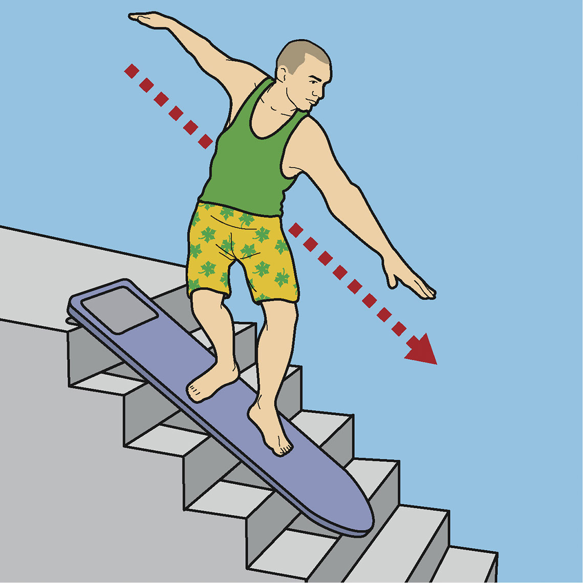 illustration-Technical and How To_Loaded Stairs Surf-Jon Rogers