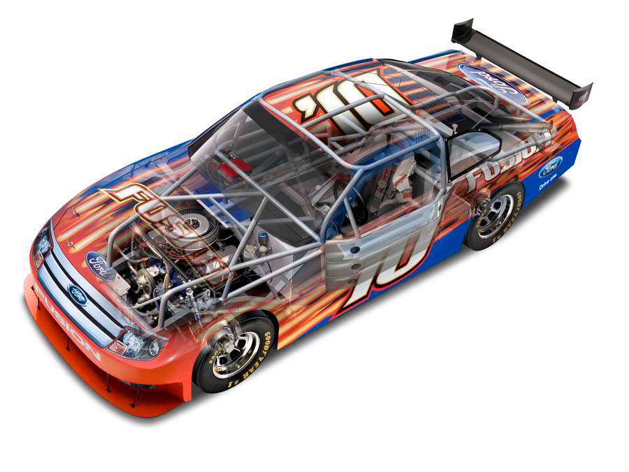 illustration-Technical and How To_Nascar Cutaway-Tony Randazzo