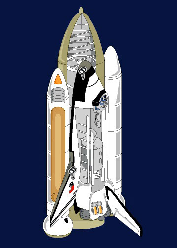 illustration-Technical and How To_Space Shuttle Diagram-Jib Hunt