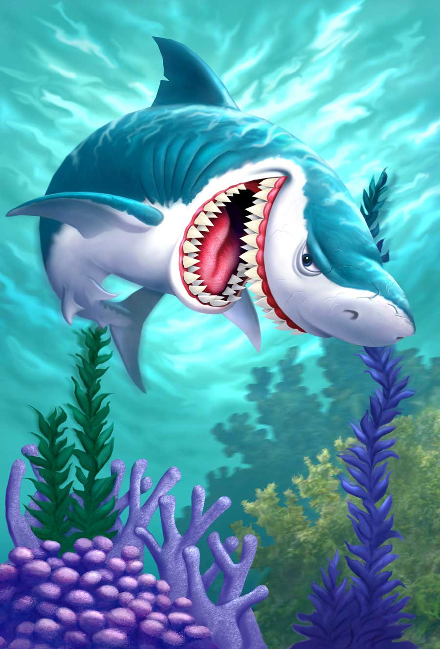 illustration-animals-and-nature-animated-shark_character-development-Jerry LoFaro