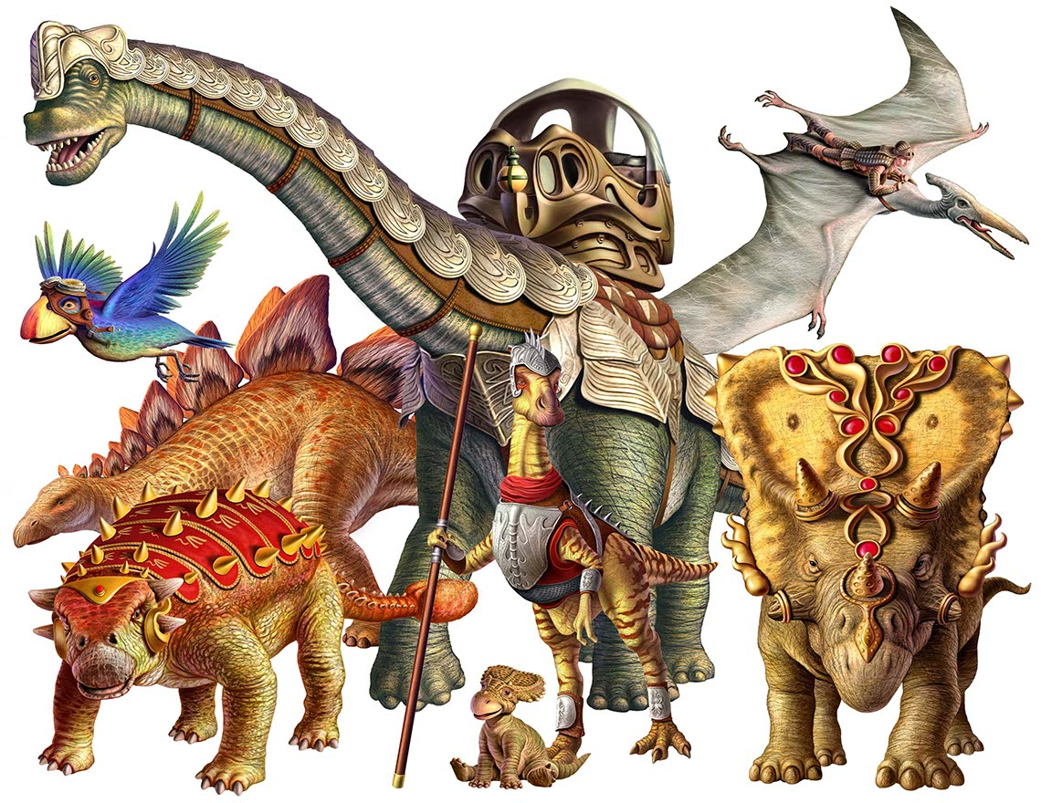 illustration-animals and nature-Dino  Dinotopia 2-Jerry LoFaro
