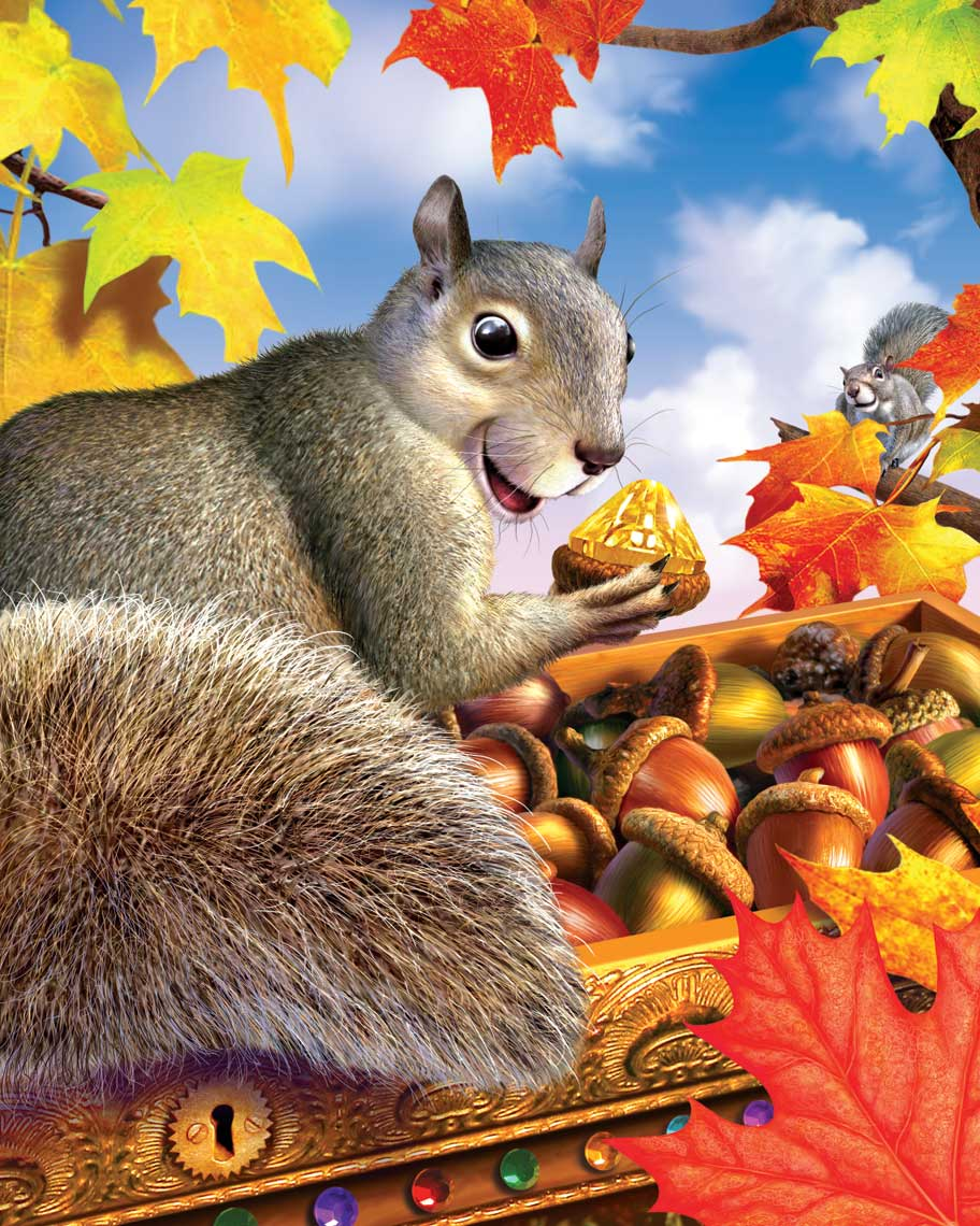 illustration-animated-squirrel-eating-nuts-in-tree-Jerry LoFaro