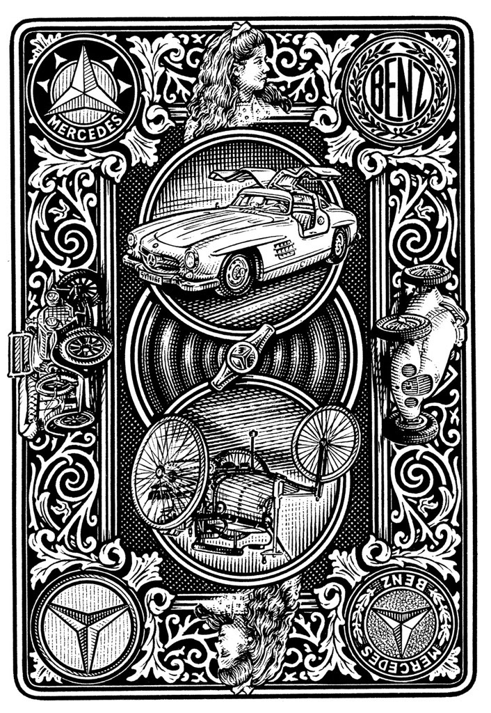 illustration-bw-etching-linework-hopkins-merc-Dave Hopkins