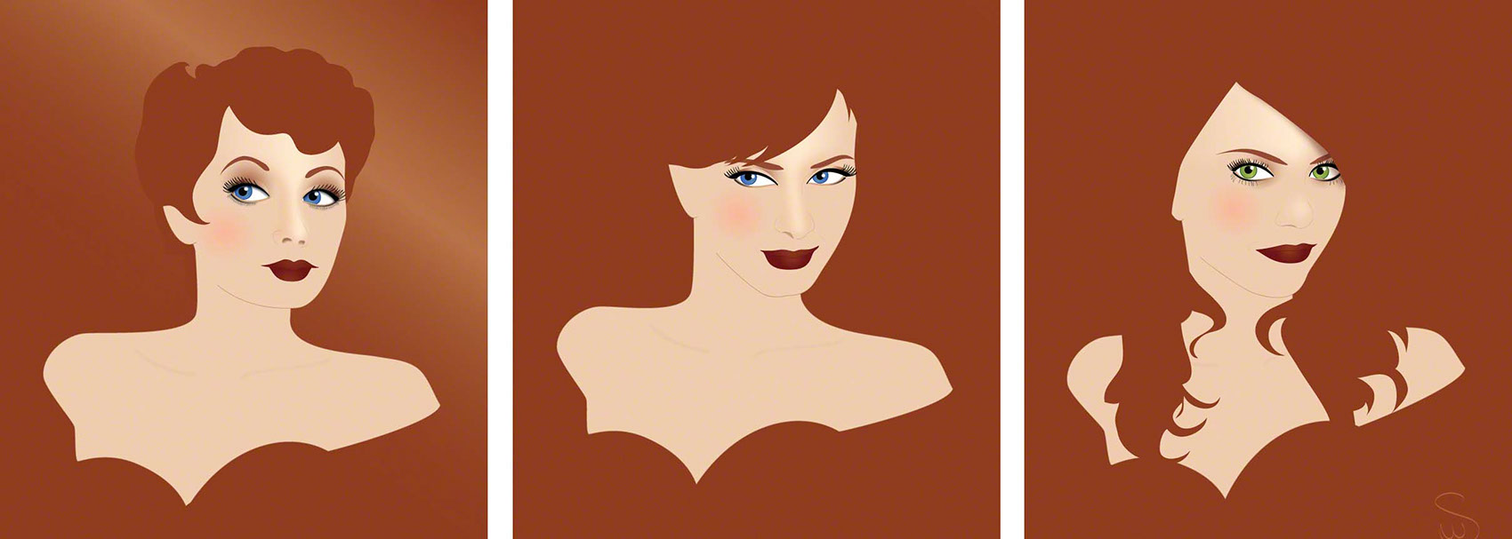 illustration-_Lucille Ball, Hendricks, Lohan