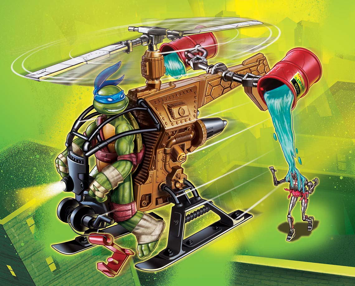 illustration-characters-cartoonTMNT-Leonardo In helicopter-Shawn McKelvey