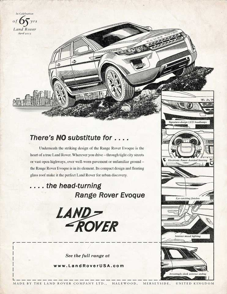 illustration-land-rover-65th-anniversary-etro_bw_evoque-and-detail-spots-Garth Glazier