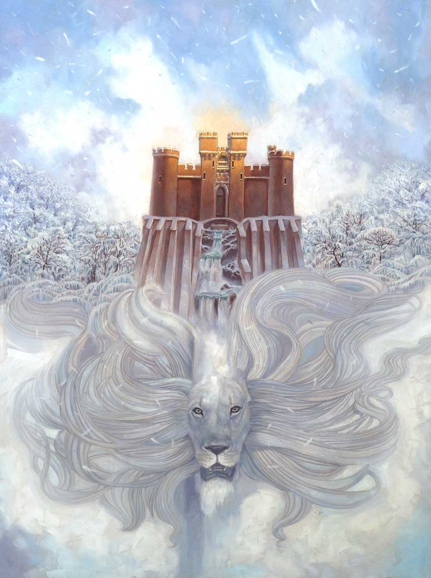 illustration oil painting-retro-Narnia poster