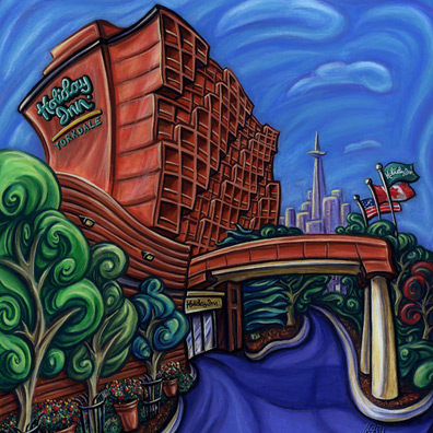 illustration-pastels-holiday inn building yorkdale-giovannina