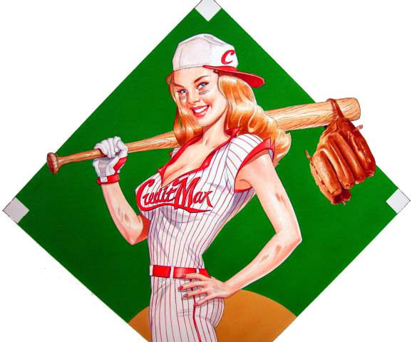illustration-retro_baseball pinup-Bill Garland
