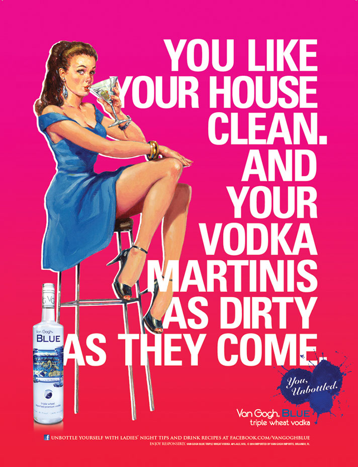 illustration-retro_blue vodka girl-Bill Garland