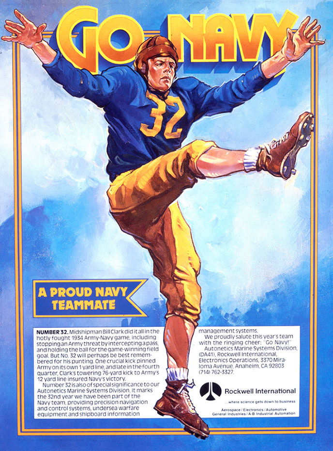illustration-retro_football player-Bill Garland