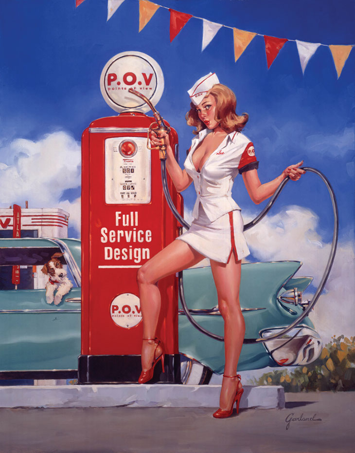 illustration-retro_gas pump-Bill Garland