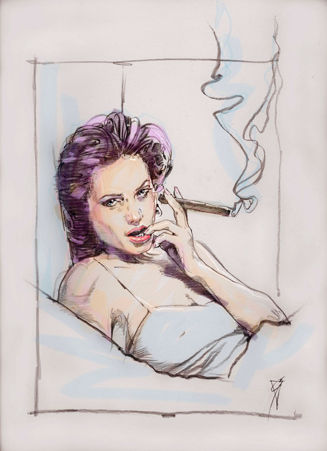 illustration-retro_smoking woman-Bill Garland
