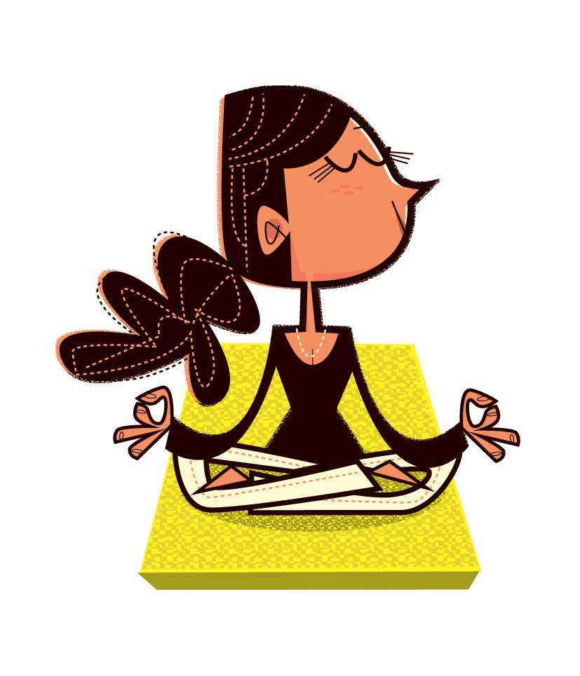 illustration-vector-character-development-woman-meditating-on-yoga-mat