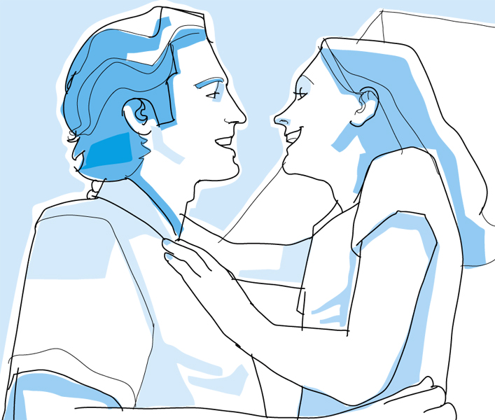 illustration-vector-hugging happy couple-francisco favaro