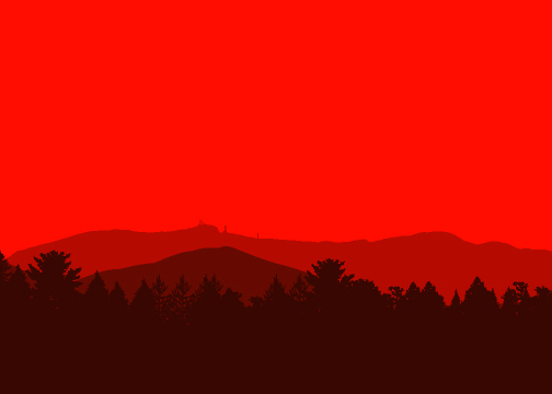 illustration-vector-vermont silhouetted landscape-jib hunt