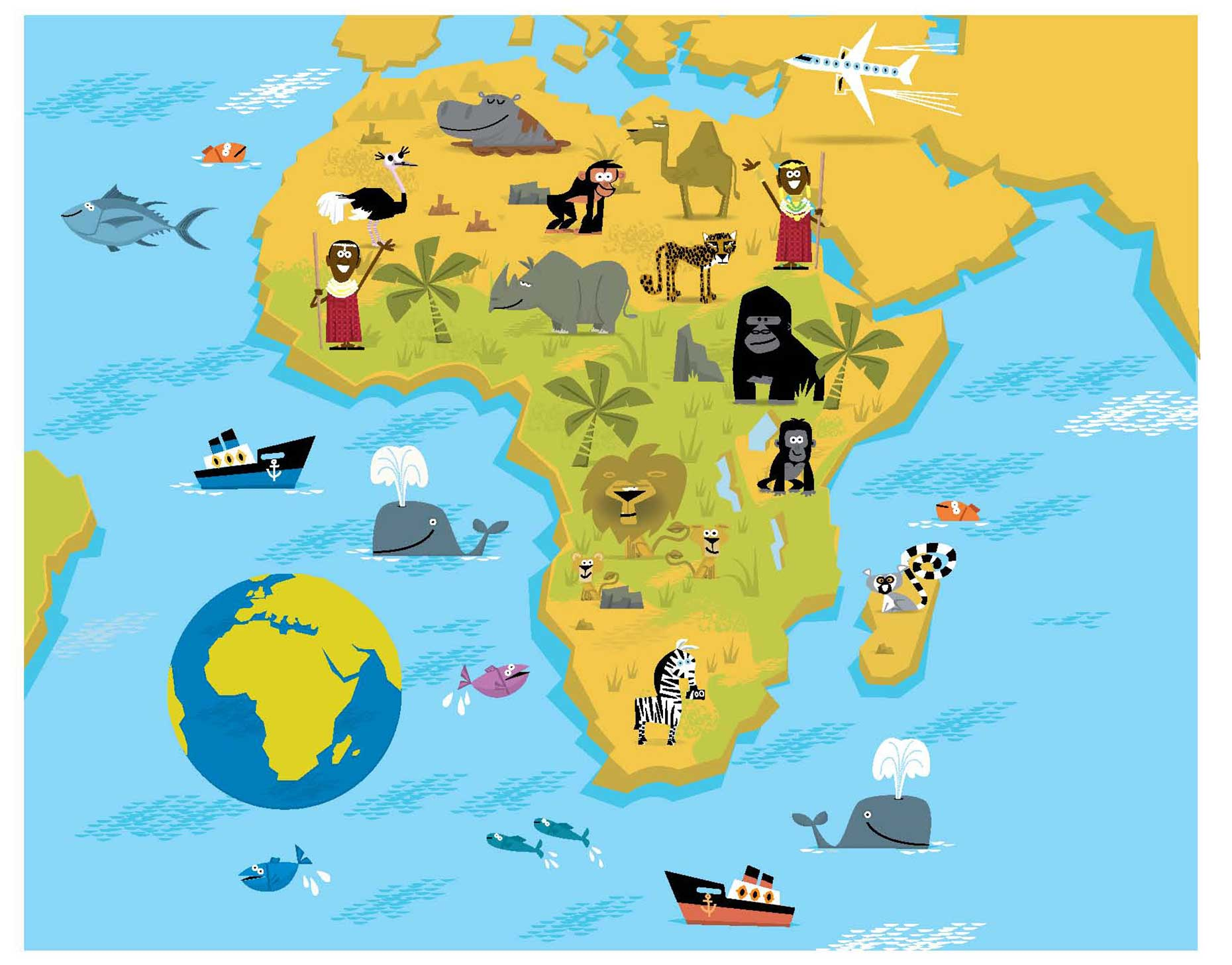 illustration-vector_rendering_Africa_map-David Semple