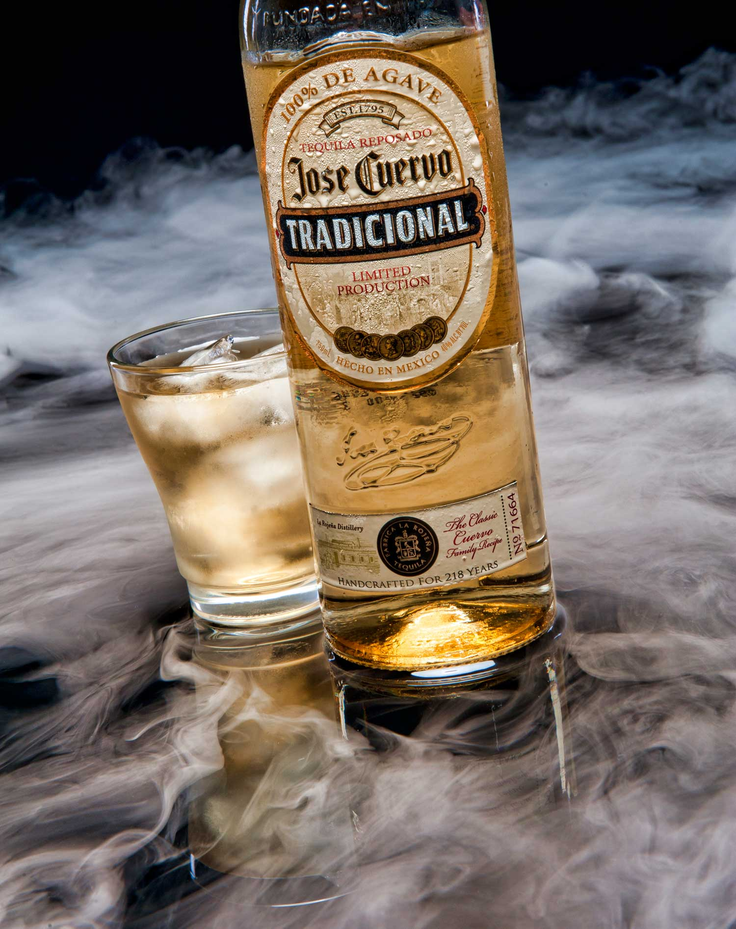 jose cuervo tradicional with shot glass