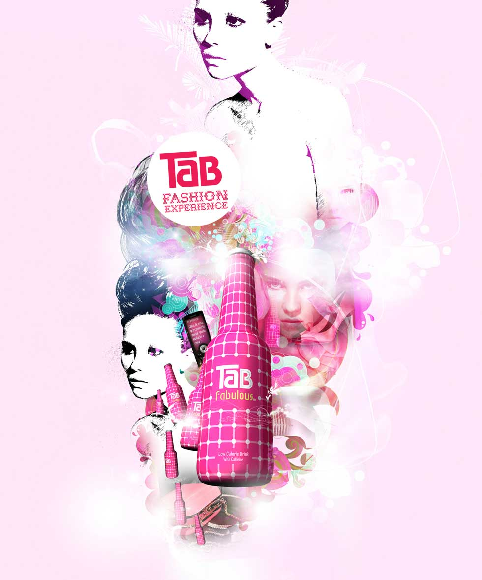 photo-imaging-watercolor-of fashion portraits with tab bottles