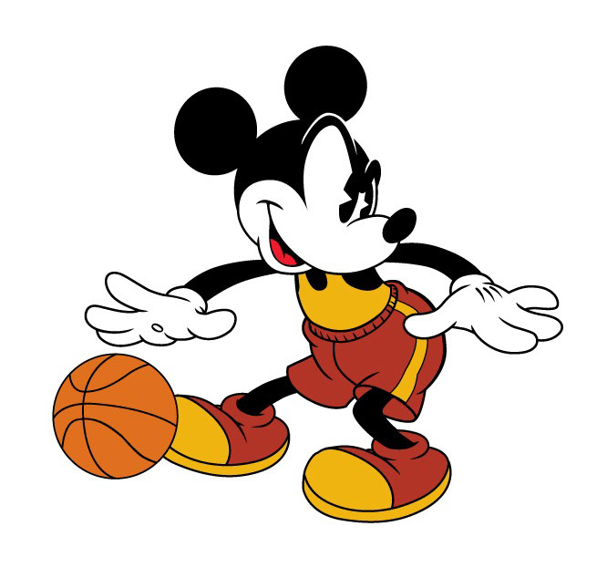 vector-Illustration_Cartoons and Character Design_Mickey Mouse Basketball-barry orkin